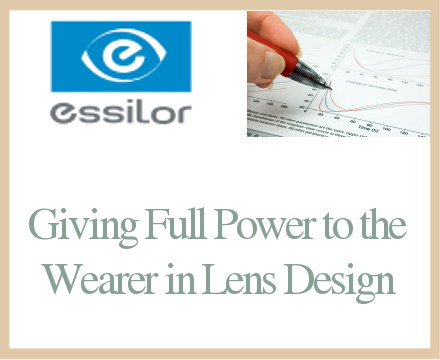 Giving full power to the wearer in lens design